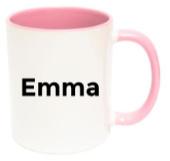 Gepersonaliseerde mok met naam (roze)