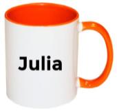Gepersonaliseerde mok met naam (oranje)