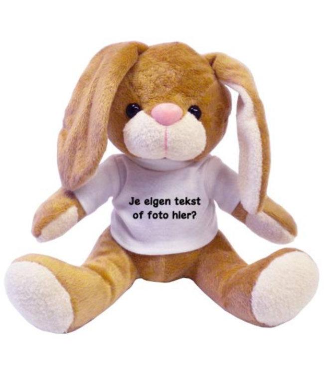 Knuffel Haas met naam, tekst of foto