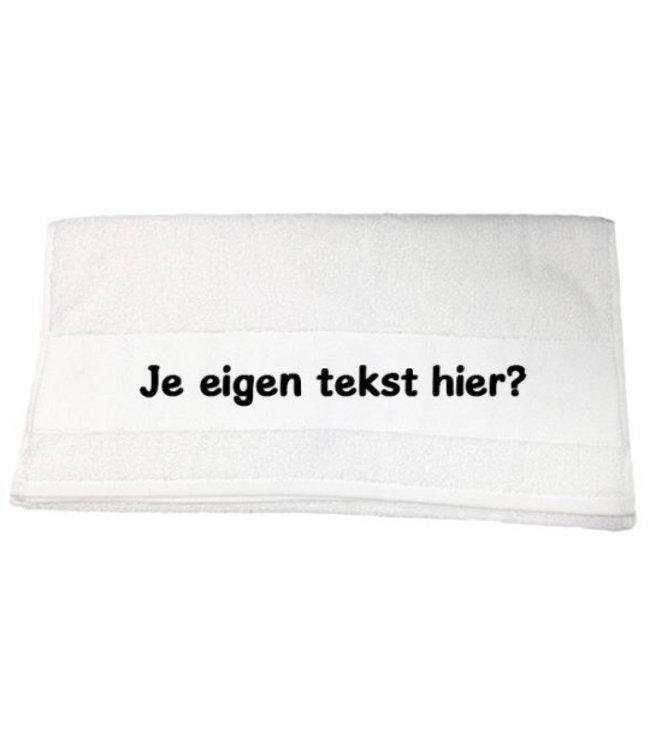 Handdoek met naam of tekst (wit)