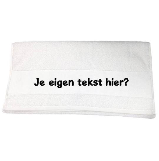 Handdoek met naam (wit)
