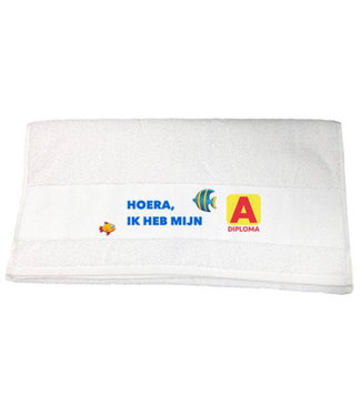 Handdoek A Diploma