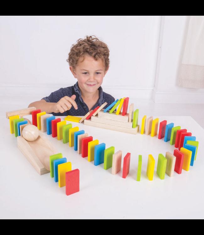 Houten Domino set (108dlg.)