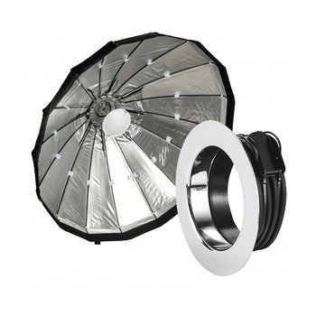 Lencarta Beauty Dish 80cm Folding Silver | Various brands Speedring