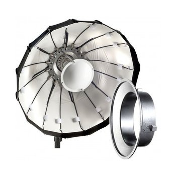 Lencarta Beauty Dish Folding 80cm White | Various brands Speedring