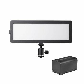 Walimex Pro LED Kameraleuchte Soft 200 Flat Bi Color Set1