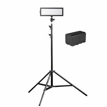Walimex Pro LED Kameraleuchte Soft 200 Flat Bi Color Set3
