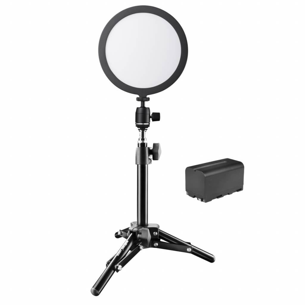 Walimex pro Soft LED 200 round Daylight batería set by fotografías digitales