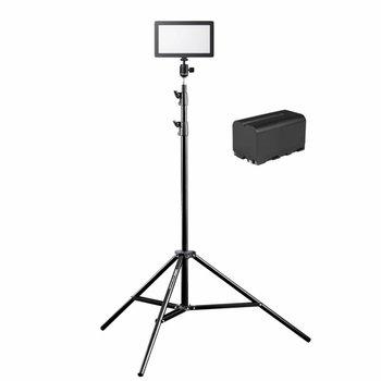 Walimex Pro LED Kameraleuchte Soft 200 Square Bi Color Set III