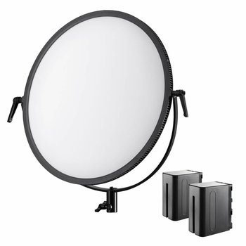 Walimex Pro LED Flächenleuchte Soft 700 Round Bi Color Set I