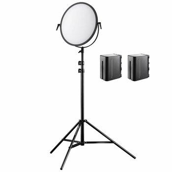 Walimex Pro LED Flächenleuchte Soft 700 Round Bi Color Set II