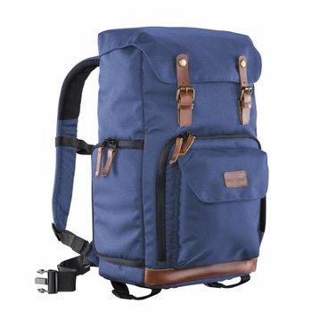 Mantona Camera Backpack Luis blue, retro