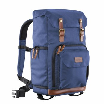 mantona Camera Backpack Luis blue, retro