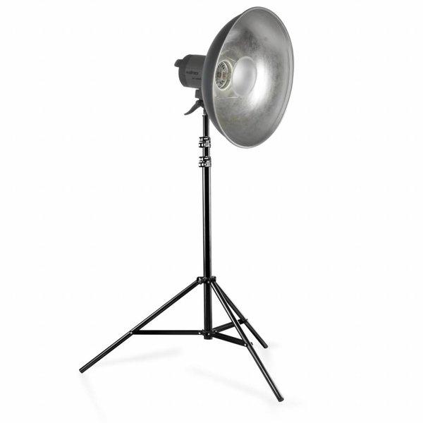 Walimex Quartz Light Set VC-1000Q + Beauty Dish + Lampstatief