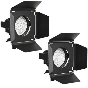 walimex pro LED Spotlight 2er Set + Abschirmklapp.
