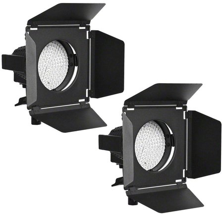 Walimex Pro LED Spotlights Set of 2 + Kleppenset