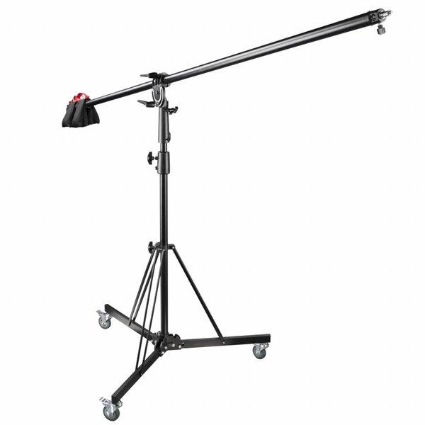 Walimex Pro Boomarm Statief met wielen en Contragewicht