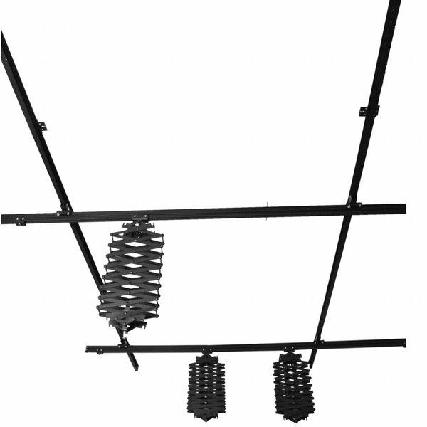 Walimex Plafond Railsysteem Compleet voor 3 studiolampen