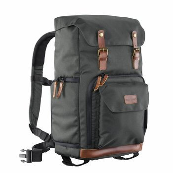 mantona Camera Backpack Luis green, retro