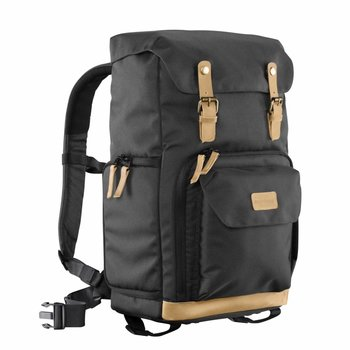 mantona Camera Backpack Luis Black, retro