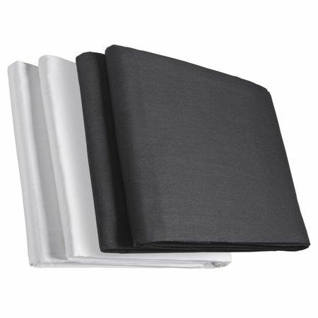 walimex Doppelpack Stoffhintergrund schwarz/weiss