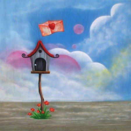 walimex pro Stoffhintergrund 'Love-Letter', 3x6m