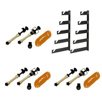 walimex Studio Wall Mounting Kit for Paper Rolls, set of 3