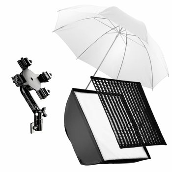Walimex Flash Holder SB 60 Set 4, Umbrella White