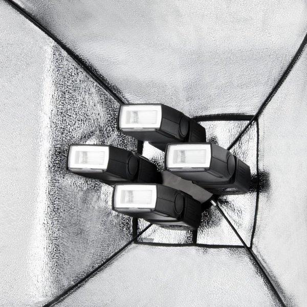 Walimex Quad Flitshouder/Softbox Set 4 Transparant Wit