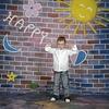 Walimex Pro Achtergrond Doek Happymotief voor fotografie 3x6m