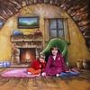 Walimex Pro Achtergrond Doek Homey Motief voor fotografie 3x6m
