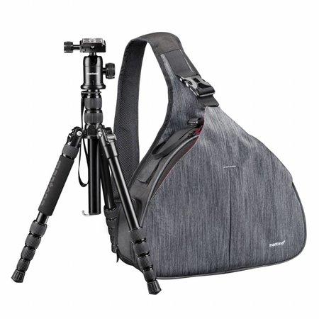 mantona Cameratas Triangle Grijs + DSLM Statief