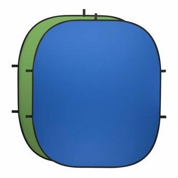 Walimex Pro Falthintergrund Fotografiegrün/blau, 200x230cm