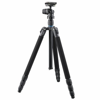 mantona Camera Tripod with Ball Head SG-350 Black 168cm
