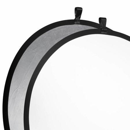 walimex Faltreflektor silber/weiß, Ø107cm