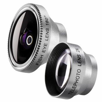 walimex Fish-Eye Tele Lens set 180 voor iPhone