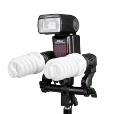 walimex Dual Lamp Holder E27+ Hotshoe