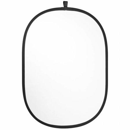 Walimex Opvouwbaar Reflectiescherm Zilver/Wit 91x122cm