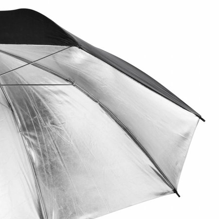 walimex pro Reflexschirm schwarz/silber 2-lagig, 109cm