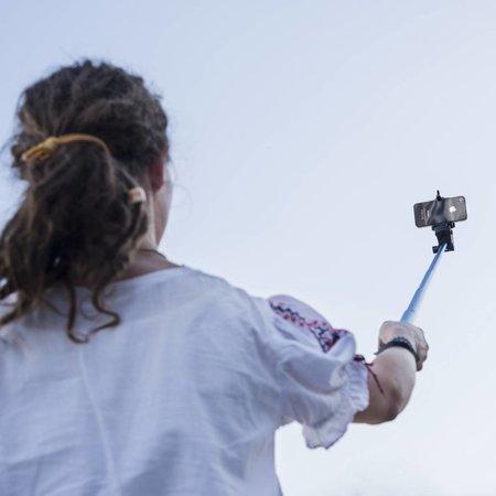 mantona Monopod Selfy, blue for Iphone