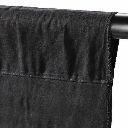walimex Achtergronddoek 2,85x6m, Zwart