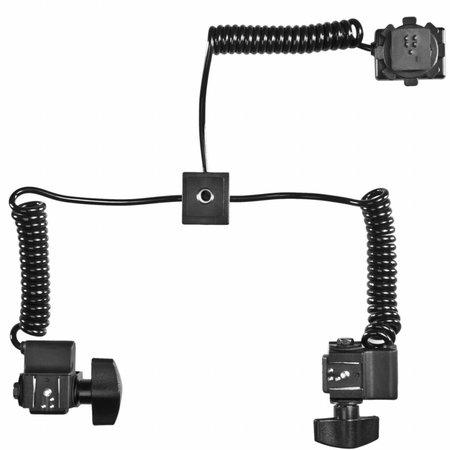 walimex Makro Blitzschiene Basic mit Y-Kabel Panasonic