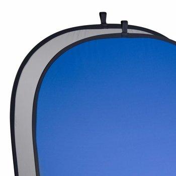 Walimex 2in1 Falthintergrund Fotografiegrau/blau, 180x210cm