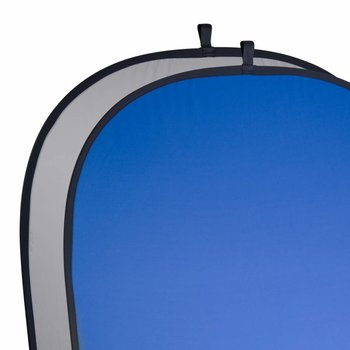 Walimex Opvouwbare Achtergrond voor studio fotografie Grijs/Blauw, 180x210cm