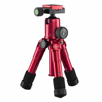 mantona Mini Tripod Kaleido sundown red metallic