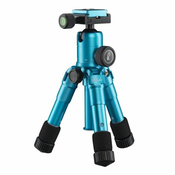 mantona Mini Tripod Kaleido ocean blue metallic