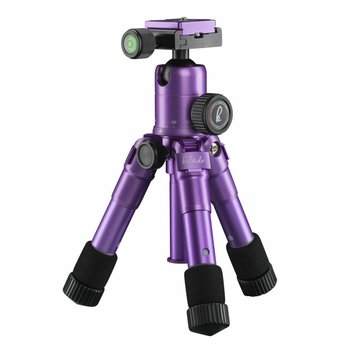 mantona mini Tripod Kaleido Purple metallic