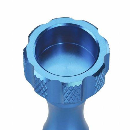 mantona GoPro Schraubenset + Schlüssel Alu blau