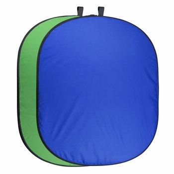Walimex Pro Falthintergrund Fotografiegrün/blau, 150x210cm