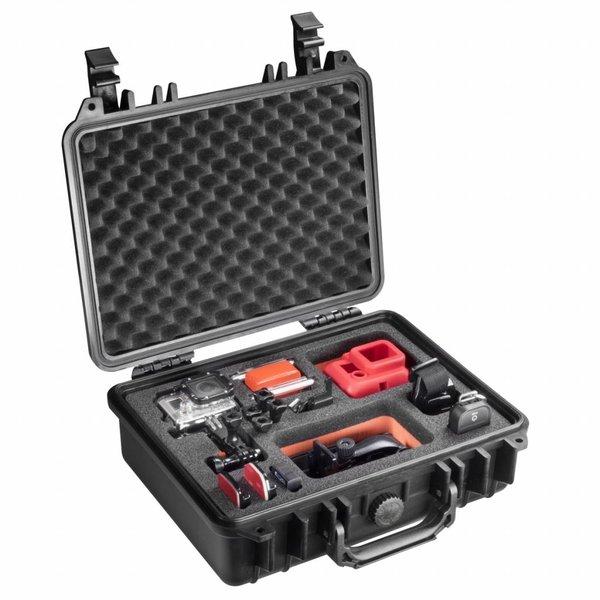 Mantona GoPro Outdoor Beschermkoffer M + Schuimrubber